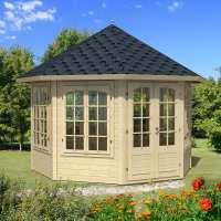 Palmako Veronica 3.4m x 3.4m Log Cabin (34mm) - 7 Windows