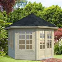 3.4x3.4m (11'x11') Palmako Veronica 34mm Log Cabin - 4 Windows