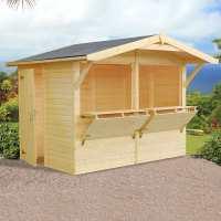 9ft x 6ft Palmako Stella (16mm) Premium Wooden Kiosk Shed (2.7m x 1.9m)