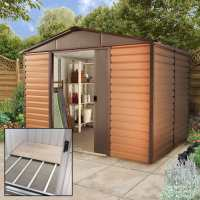 10ft x 12ft4 Yardmaster Balmoral Metal Shed 1012WGL+ With Floor Support Kit (3.03m x 3.78m)