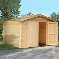 10ft x 12.6ft  Palmako Ralf Premium (28mm) Nordic Wooden Double Door Shed (2.9m x 3.8m)