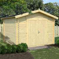 10ft x 10ft Palmako Ralf Premium (28mm) Nordic Wooden Double Door Shed (3.2m x 3.1m)