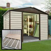 10ft x 6ft Yardmaster Shiplap Metal Shed 106TBSL+ With Floor Support Kit (3.03m x 1.97m)