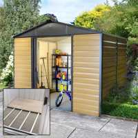 9ft11 x 6ft5 Yardmaster Balmoral Metal Shed 106WGL+ With Floor Support Kit (3.03m x 1.97m)