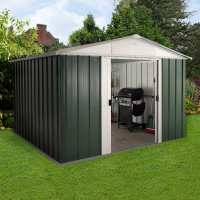 10ft x 8ft Yardmaster Green Metal Shed 108GEYZ (3.03m x 2.37m)