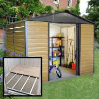 10ft x 8ft Yardmaster Balmoral Metal Shed 108WGL+ With Floor Support Kit (3.03m x 2.37m)