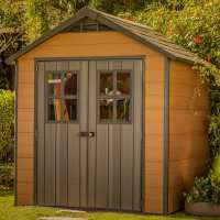 7ftx 7ft Keter Newton Plastic Garden Shed (2.29m x 2.23m)