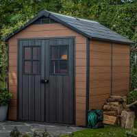 7ft x 9ft Keter Newton Plastic Garden Shed (2.29m x 2.87m)