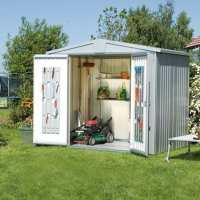 7ft x 5ft Biohort Europa 3 Silver Metal Shed (2.22m x 1.5m)