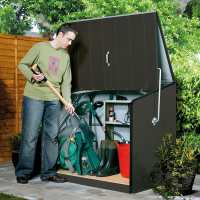 4ft5 x 2ft9 Trimetals Stowaway Metal Garden Storage Shed  - Anthracite (1.37m x 0.88m)