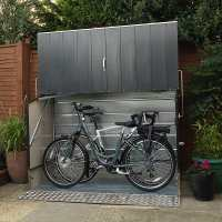 6ft4 x 2ft9 Trimetals Protect.a.Cycle Metal Bike Shed with Ramp - Anthracite (1.95m x 0.88m)