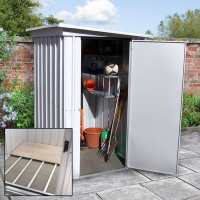 5ft x 4ft Yardmaster Pent Metal Shed 54PEZ+ With Floor Support Kit (1.58m x 1.20m)