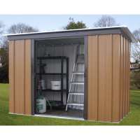 6ft x 4ft Yardmaster Tall Woodview Pent Metal Shed (1.98m x 1.19m)