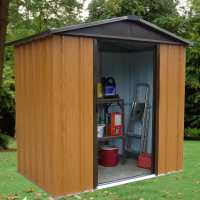 6ft x 4ft Yardmaster Woodview Metal Shed (1.86m x 1.25m)