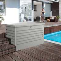 4'x2' (1.2x0.6m) Biohort Quartz Grey Leisure Time 130 Storage Box