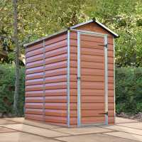 4ft x 6ft Palram Amber Skylight Plastic Shed (1.27m x 1.77m)