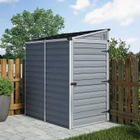 4ft x 6ft Palram Grey Skylight Pent Plastic Shed (1.18m x 1.75m)