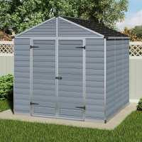 8'x8' (2.4x2.4m) Palram Grey Skylight Plastic Shed