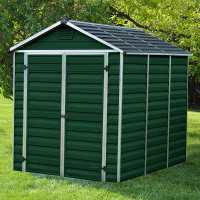 6ft x 8ft Palram Dark Green Skylight Plastic Shed (1.88m x 2.39m)