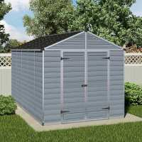 8ft x 12ft Palram Grey Skylight Plastic Shed (2.37m x 3.79m)