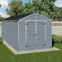 8ft x 16ft Palram Grey Skylight Plastic Shed (2.37m x 5.29m)