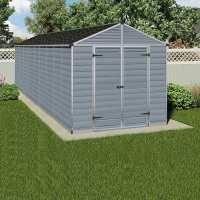 8ft x 22ft Palram Grey Skylight Plastic Shed (2.37m x 6.79m)