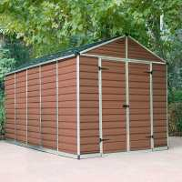 8ft x 12ft Palram Amber Skylight Plastic Storage Shed (2.37m x 3.79m)