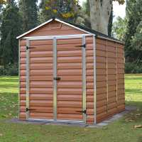 6ft x 8ft Palram Amber Skylight Plastic Shed (1.85m x 2.28m)