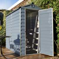 4ft x 6ft Palram Grey Skylight Plastic Shed (1.21m x 1.77m)