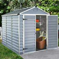 6ft x 8ft Palram Grey Skylight Plastic Shed (1.88m x 2.39m)