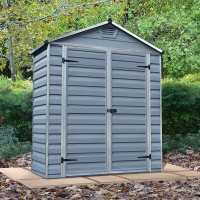 6ft x 3ft Palram Grey Skylight Plastic Shed (1.85m x 0.9m)