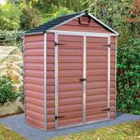 6ft x 3ft Palram SkyLight Amber Plastic Shed (1.85m x 0.9m)