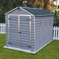 6ft x 10ft Palram Canopia Grey Skylight Plastic Shed (1.85m x 3.04m)
