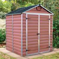 6ft x 5ft Palram Amber Skylight Plastic Shed (1.85m x 1.54m)