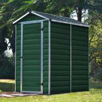 4ft x 6ft Palram Dark Green Skylight Plastic Shed (1.21m x 1.77m)