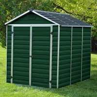 6ft x 8ft Palram Dark Green Skylight Plastic Shed (1.88m x 2.39m)