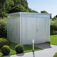 8ft x 8ft Biohort HighLine H4 Silver Metal Double Door Shed (2.52m x 2.52m)