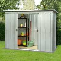8ft x 4ft Yardmaster Pent Metal Shed 84PZ (2.38m x 1.19m)
