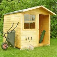 6ft9 x 6ft6 Shire Abri Apex Wooden Garden Shed (2.05m x 1.98m)