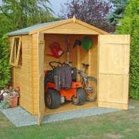 6ft x 6ft Shire Arran Double Door Wooden Garden Shed (1.97m x 1.83m)