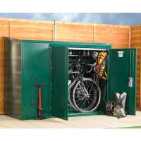 6' x 3' (1.8 x 0.9m) Asgard Premium Metal Bike Store