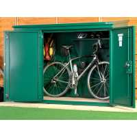 6ft x 3ft Asgard Annexe Police Approved Metal Bike Shed (1.83m x 0.92m)