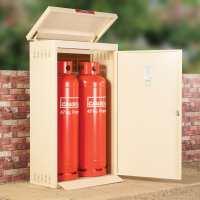 Asgard 2 Gas Bottle (47kg) Metal Storage Unit - Cream