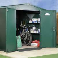 7ft x 7ft Asgard Gladiator Police Approved Security Metal Shed (2.2m x 2.2m)