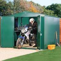 10ft11 x 7ft4 Asgard Gladiator Motorbike Garage Plus - Green (3.3m x 2.2m)