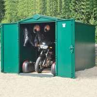 5ft2 x 10ft11 Asgard Secure Motorbike Garage Plus (1.52m x 3.33m)