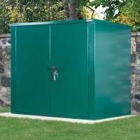 5ft x 3ft Asgard Securestore Metal Shed - Green (1.5m x 0.95m)