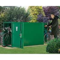 2ft11 x 6ft3 Asgard Premium Double Ended Metal Bike Shed (0.9m x 1.9m)
