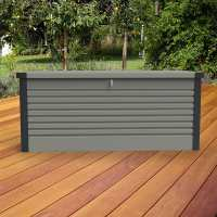 4ftx2ft5 (1.2x0.75m) Trimetals Grey Protect.a.Box - Premium Metal Garden Storage
