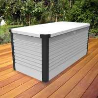 4ftx2ft5 (1.2x0.75m) Trimetals White Protect.a.Box - Premium Metal Garden Storage